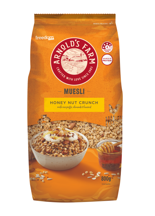 AF Muesli HONEY NUT CRUNCH 800g-min