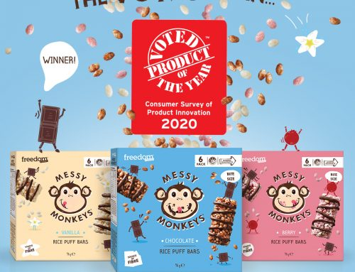 Messy Monkeys Rice Puff Bars win Product of the Year!