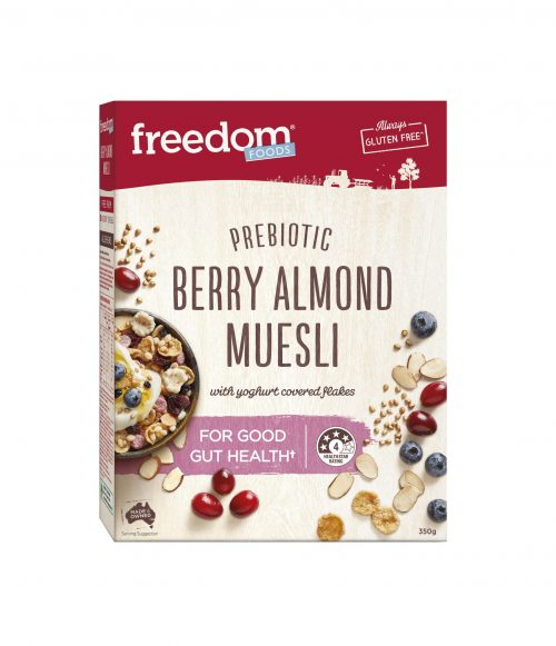 FREEDOM FOODS BERRY ALMOND MUESLI 350G