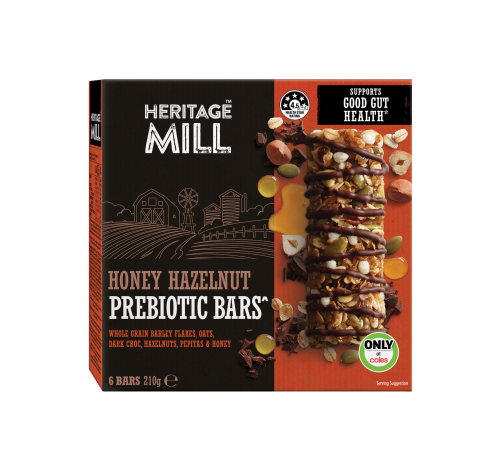 Render of Heritage Mill Honey Hazelnut Prebiotic Bars