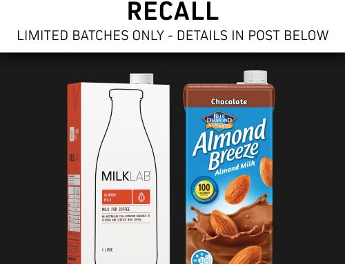 Precautionary Recall MILKLAB Almond & Almond Breeze Chocolate